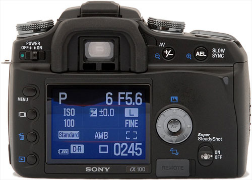 Обзор Sony DSLR-A100 Alpha