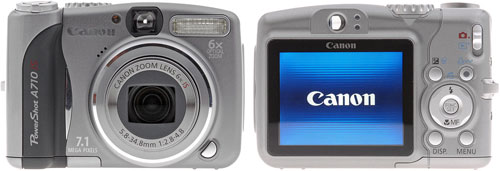 Тест Canon PowerShot A710 IS на DPReview