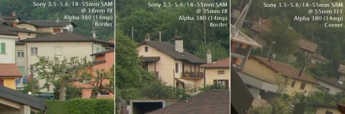 Сравнение нового Sony 18-55mm SAM против старого кита 18-70mm DT